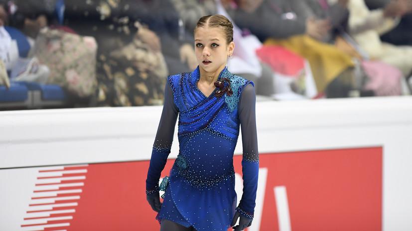 Трусова выступит последней в произвольной программе на ЧР по фигурному катанию