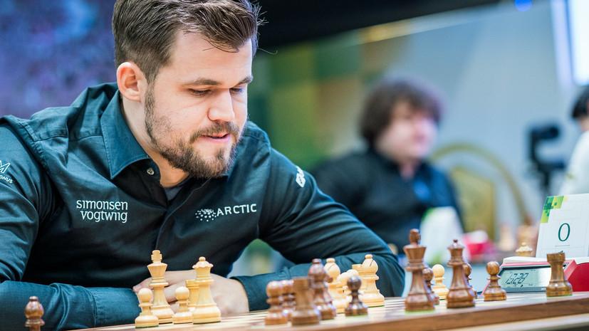 Карлсен лидирует на чемпионате мира по рапиду в Москве