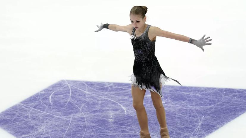 Трусова сделала четыре четверных прыжка на тренировке произвольной программы
