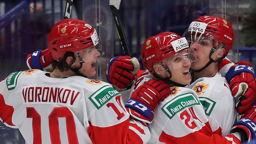Сборная России довела до разгромного счёт матча МЧМ с Канадой