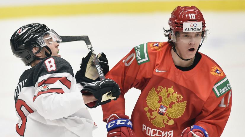 Капитан сборной Канады не стал снимать шлем во время прослушивания гимна России на МЧМ