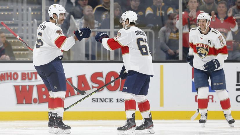 Шайба Дадонова помогла «Флориде» обыграть «Детройт» в НХЛ