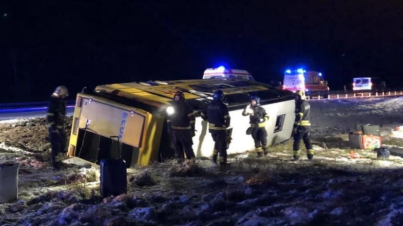 В Эстонии в ДТП с автобусом пострадала россиянка