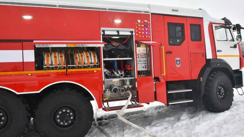 Пожар в магазине с пиломатериалами под Красноярском потушен