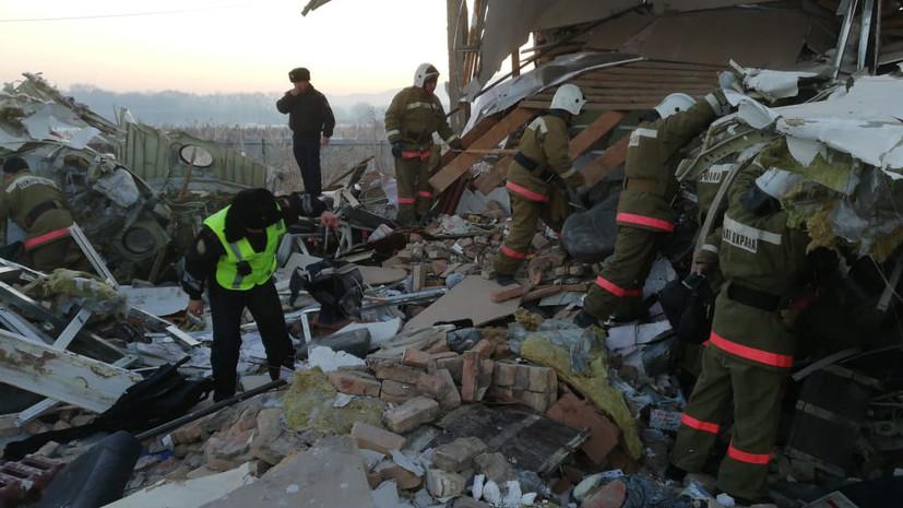 В МВД Казахстана назвали основные версии авиакатастрофы в Алма-Ате