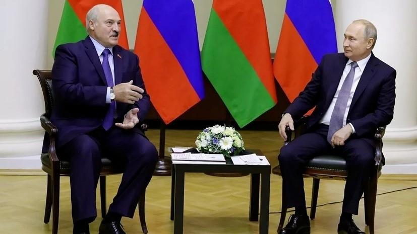 Путин иЛукашенко поздравили друг дружку  сНовым годом