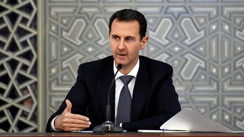 Асад поблагодарил Путина за содействие в борьбе с терроризмом