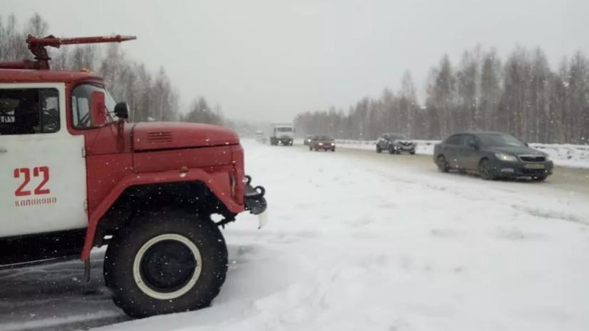 Под Оренбургом перекрыли движение на трассе М-5 из-за погоды