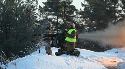 Военнослужащие Латвии проводят испытания ПЗРК RBS-70