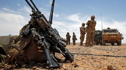 Солдаты армии США на границе с Саудовской Аравией