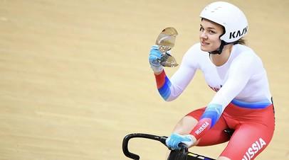 Войнова выиграла спринт на этапе КМ по велотреку