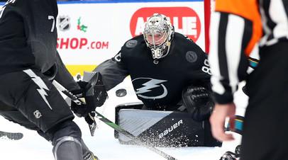 Василевский установил клубный рекорд «Тампы» по матчам в НХЛ среди вратарей