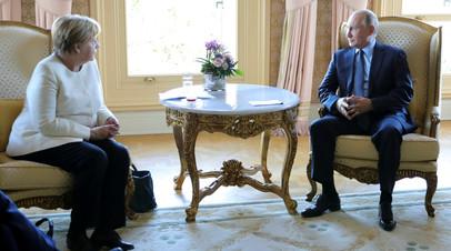 В Париже началась встреча Путина и Меркель