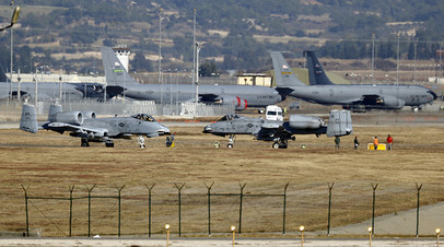Американские штурмовики на авиабазе Инджирлик