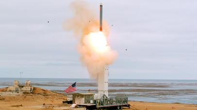 Пуск баллистической ракеты США