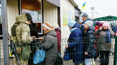 Линия соприкосновения в районе Станицы Луганской.