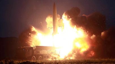 Ракетный пуск КНДР, август 2019 г.