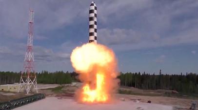 Испытание баллистической ракеты «Сармат»