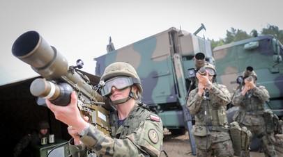 Военнослужащие польской армии на учениях