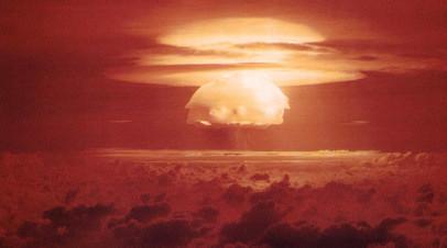 Испытание ядерной бомбы США времён холодной войны