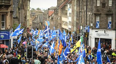 Митинг за независимость Шотландии в Эдинбурге