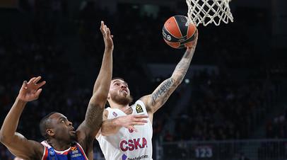 Баскетболист ЦСКА Джеймс во второй раз подряд признан MVP тура в Евролиге