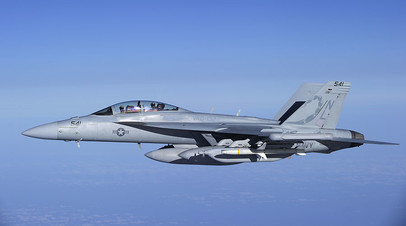A U.S. Navy EA-18G Growler