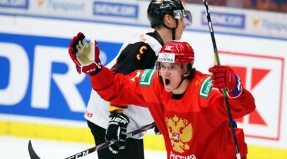 Пять очков Марченко и три гола в большинстве: сборная России обыграла команду Германии и вышла в плей-офф МЧМ по хоккею