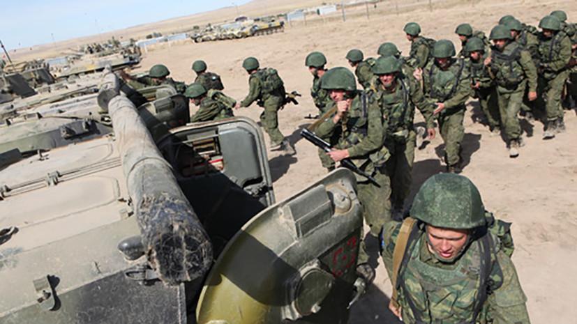 Российские военные в Таджикистане отработали прикрытие объектов базы