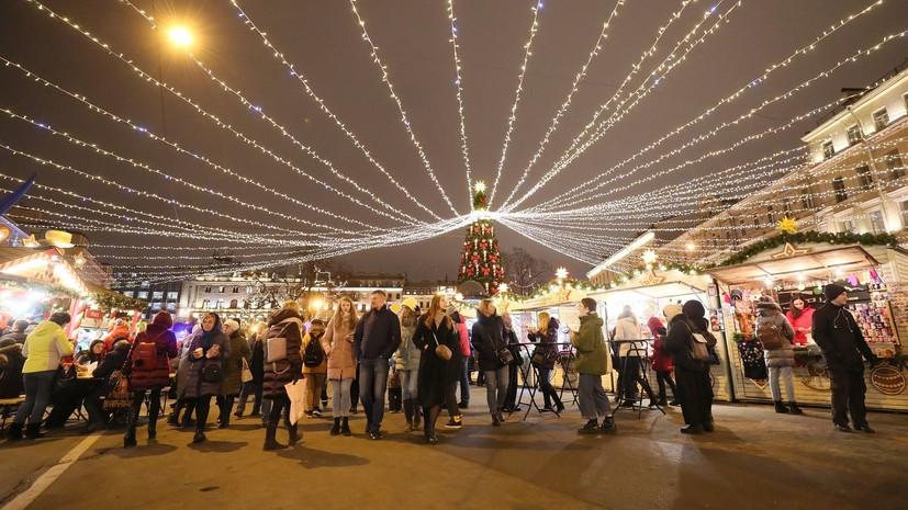 Новый год в центре Петербурга отметили 2 млн человек