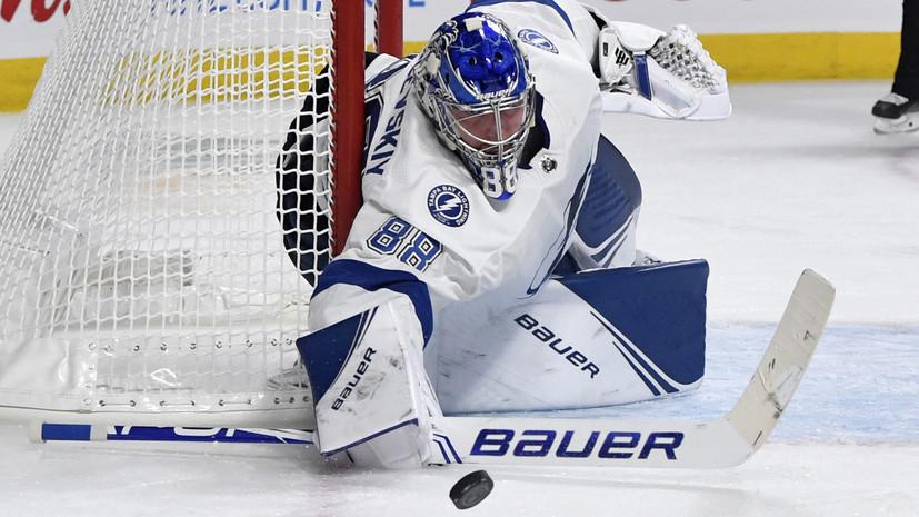 Гол Кучерова и 38 сейвов Василевского помогли «Тампе» одержать пятую победу подряд в НХЛ