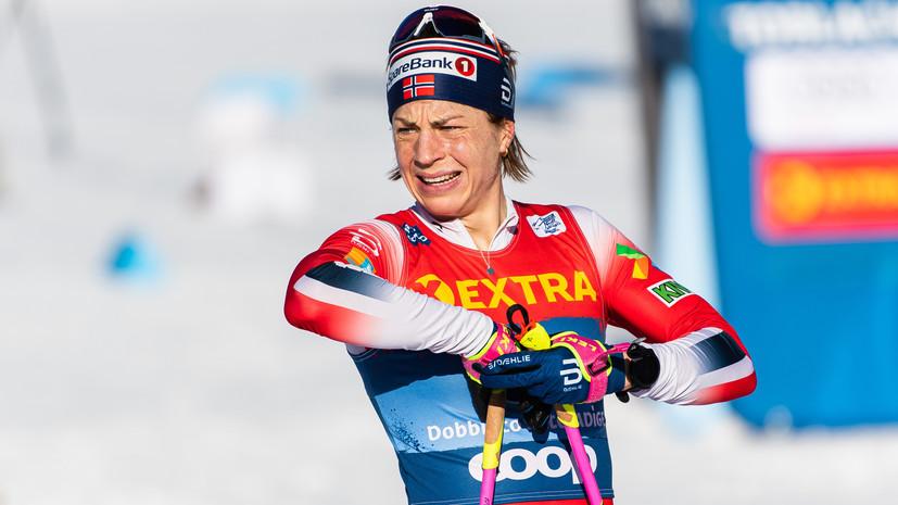 Норвежка Якобсен выиграла масс-старт «Тур де Ски» в Италии, Непряева — шестая