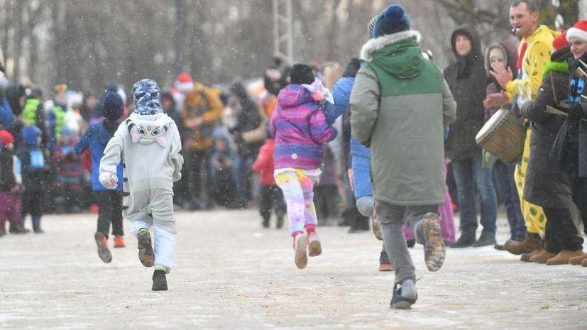 В Балашихе прошёл новогодний забег