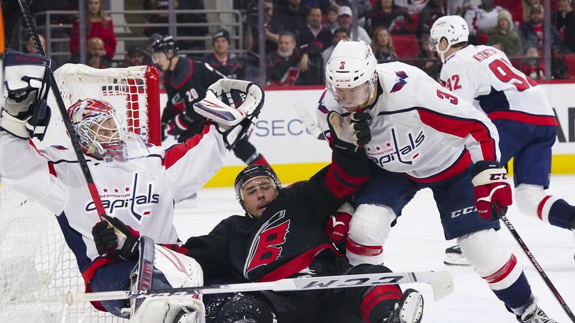 Два очка Кузнецова и 38 сейвов Самсонова помогли «Вашингтону» обыграть «Каролину» в НХЛ