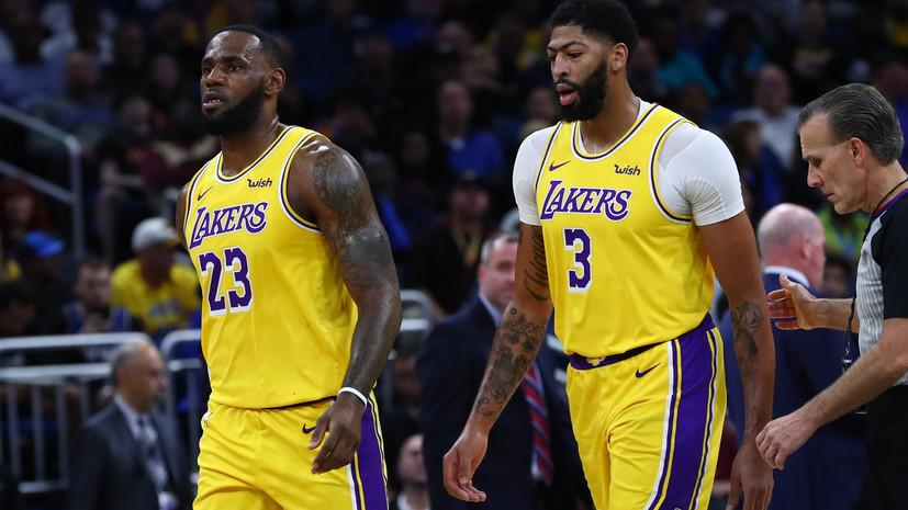 «Лейкерс» победил «Нью-Орлеан» в матче НБА, Джеймс и Дэвис оформили дабл-дабл