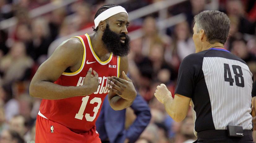 Трипл-дабл Хардена помог «Хьюстону» обыграть «Филадельфию» в матче НБА