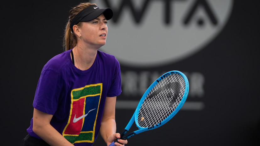 Определились возможные соперницы Шараповой на турнире WTA в Брисбене