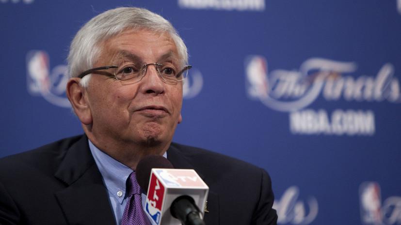 Игроки и судьи НБА будут носить чёрные повязки до конца сезона в память о Стерне