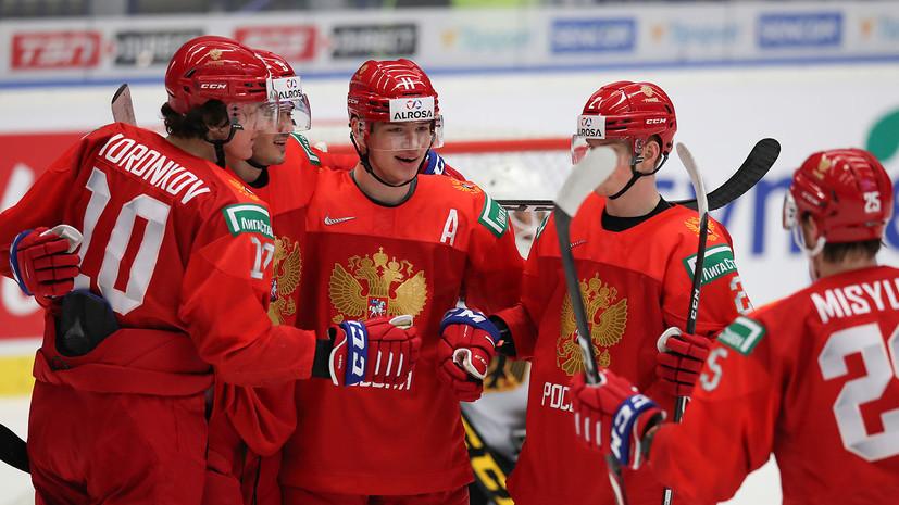 Сборная России по хоккею вышла вперёд в матче полуфинала МЧМ со Швецией