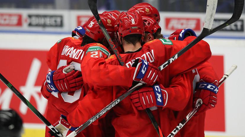 Сборная России выигрывает у Швеции после первого периода в полуфинале МЧМ