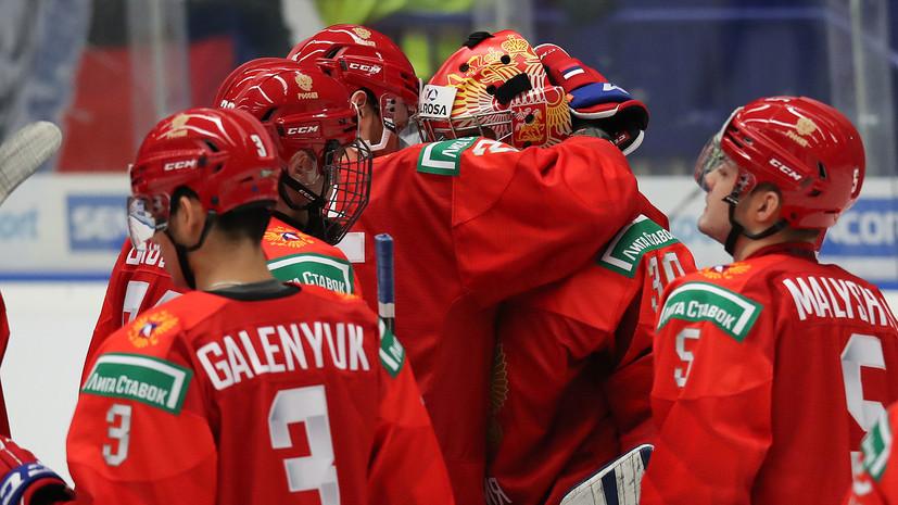Журавлёв спас сборную России от гола, остановив шайбу на линии ворот в матче со Швецией