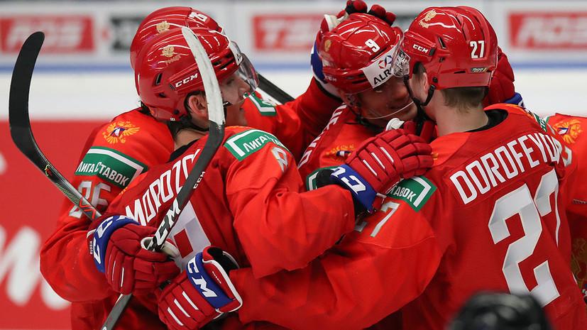 Опубликовано видео победной шайбы Морозова в ворота Швеции на МЧМ по хоккею
