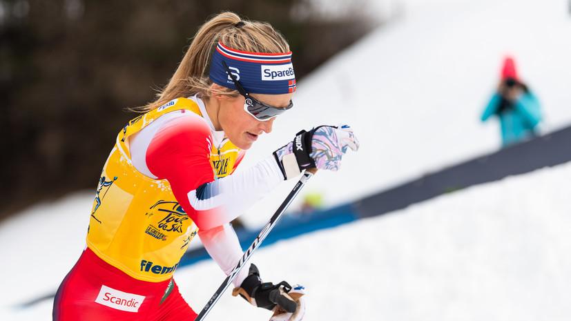 Йохауг выиграла гонку на 10 км и одержала победу на «Тур де Ски»