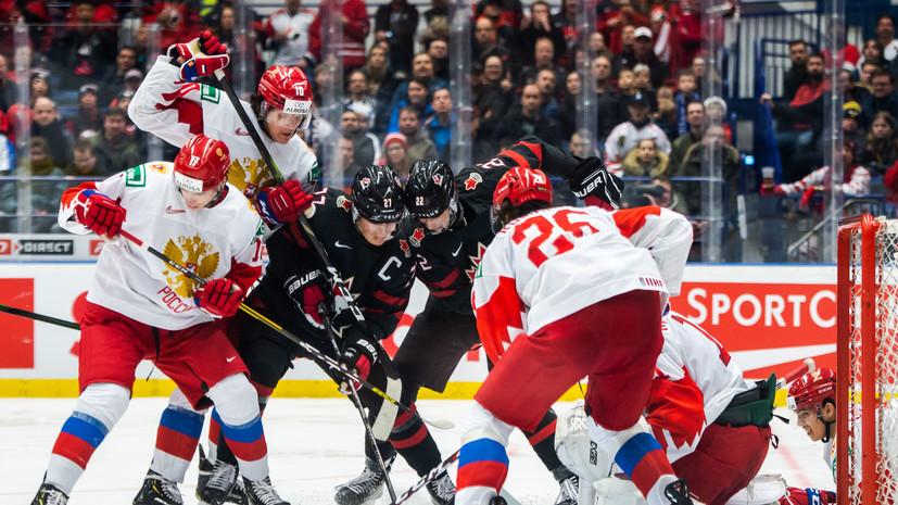 Сборная России обыгрывает Канаду после второго периода финала МЧМ