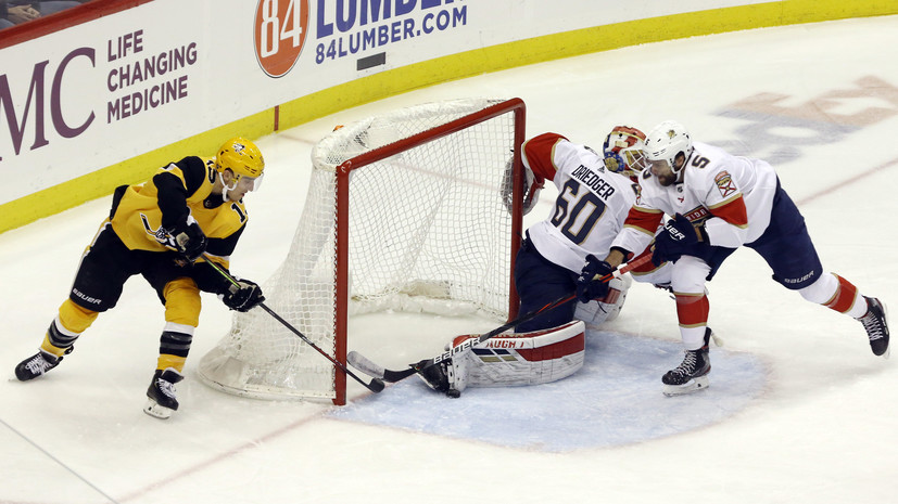 Гол Дадонова помог «Флориде» взять верх над «Питтсбургом» в НХЛ
