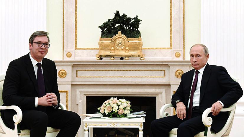 Вучич поздравил Путина с Рождеством и пригласил в Сербию