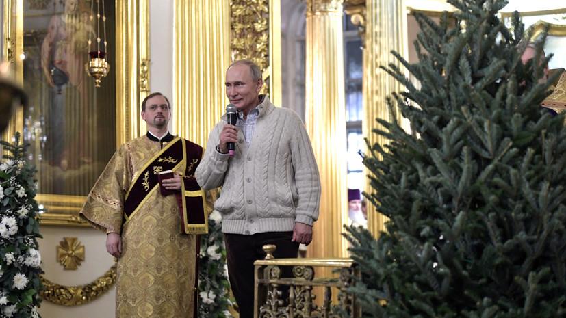 Путин передал собору Петербурга икону Божией Матери «Тихвинская»