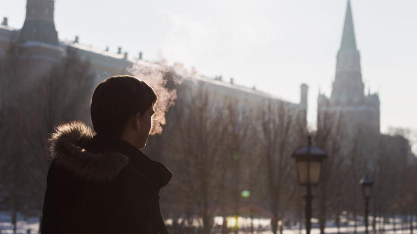 В Москве 7 января ожидается до -2 °С