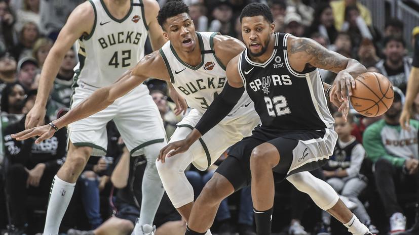Дабл-дабл Адетокунбо не спас «Милуоки» от проигрыша «Сан-Антонио» в НБА