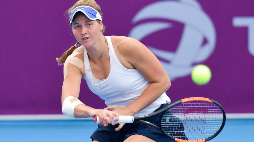 Самсонова победила чемпионку US Open 2017 в первом круге турнира WTA в Брисбене